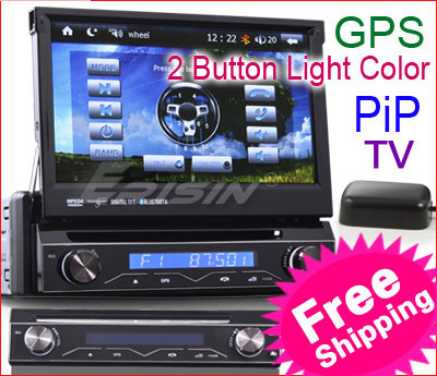 "free shipping from UK stock KS788 7"" TFT HD Touch Screen 1 din car dvd player gps radio stereo IPOD TV/Bluetooth/USB/SD SWC"