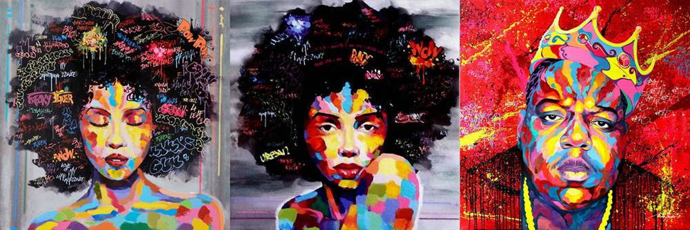 African Girl Printed Canvas Wall Painting 35