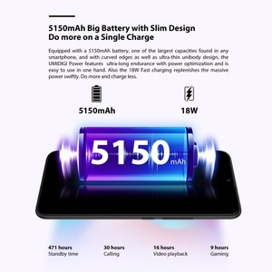 Image 3 - UMIDIGI Power Android 9.0 5150mAh Big Battery 18W 6.3 FHD+ Waterdrop Screen 4GB+64GB Helio P35 Global Version Smartphone 16MP