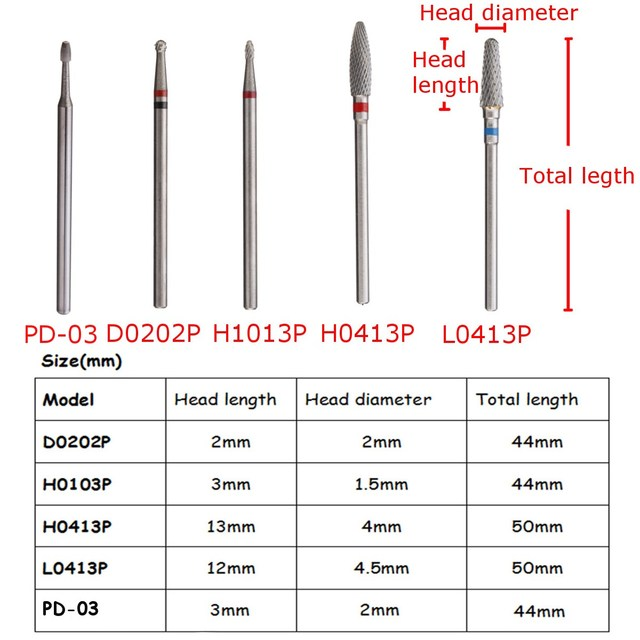 1pcs Carbide Nail Drill Bits Grinding Head Cuticle Clean For ...