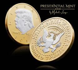 Donald Trump Challenge Coin 2018-Посеребренная в серии юбилейных коллекционеров. Потрясающие доказательства, как монеты