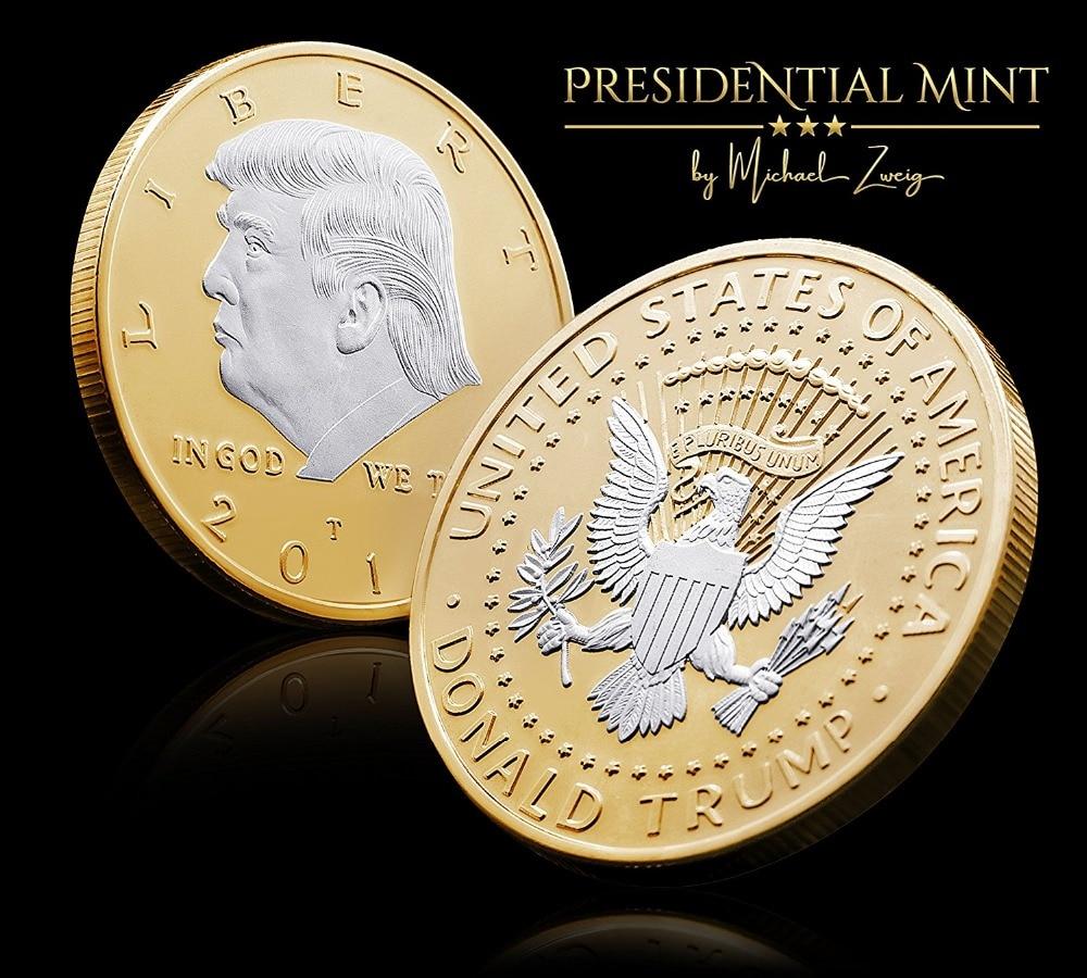 Pièce du défi Donald Trump 2018-argent plaqué dans la série édition commémorative des collectionneurs. Une preuve étonnante comme des pièces de monnaie.
