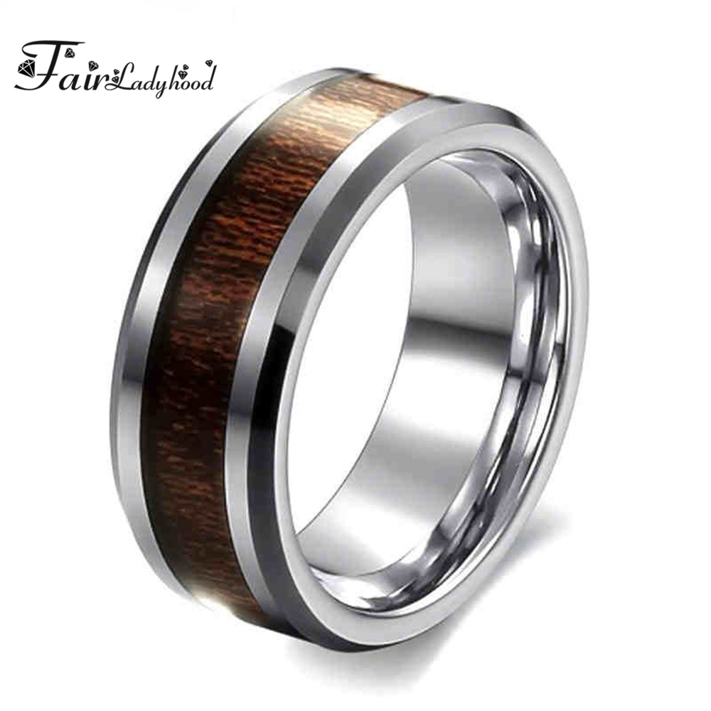 Stainless Steel with steel gold plated inlaid cross men ring or wedding band