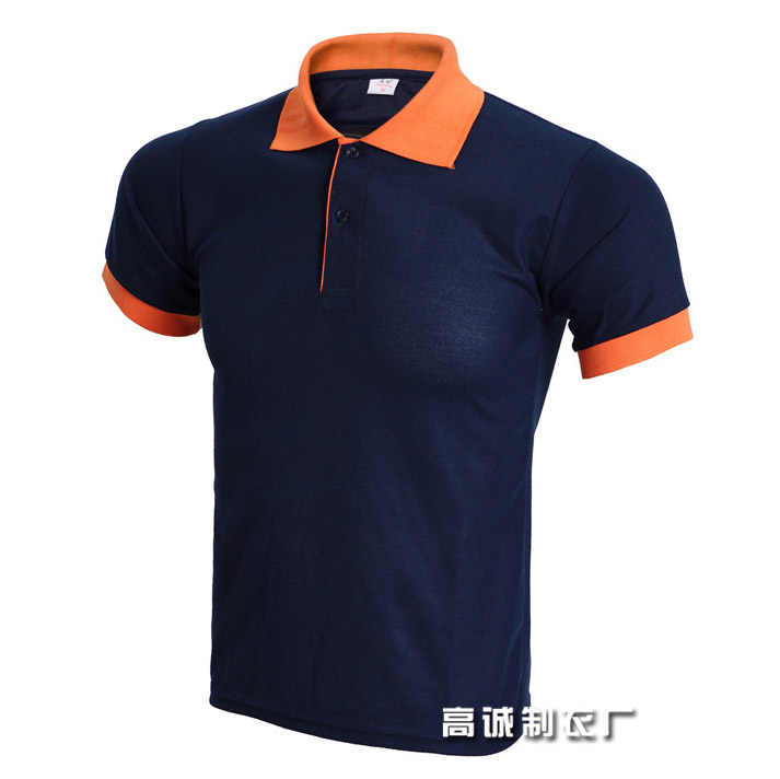 2019 top Men Polo Shirt Men's Business Casual solid Summer Style Polos Short Sleeve Solid Shirt Blouse Navy Orange Plus Size 3XL