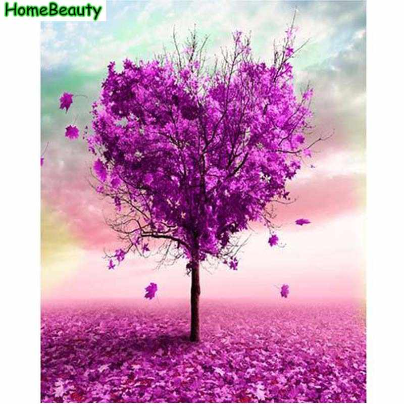 Love tree painting by numbers hand painted acrylic pictures diy canvas paint coloring by numbers Modular picture wall art PH9255