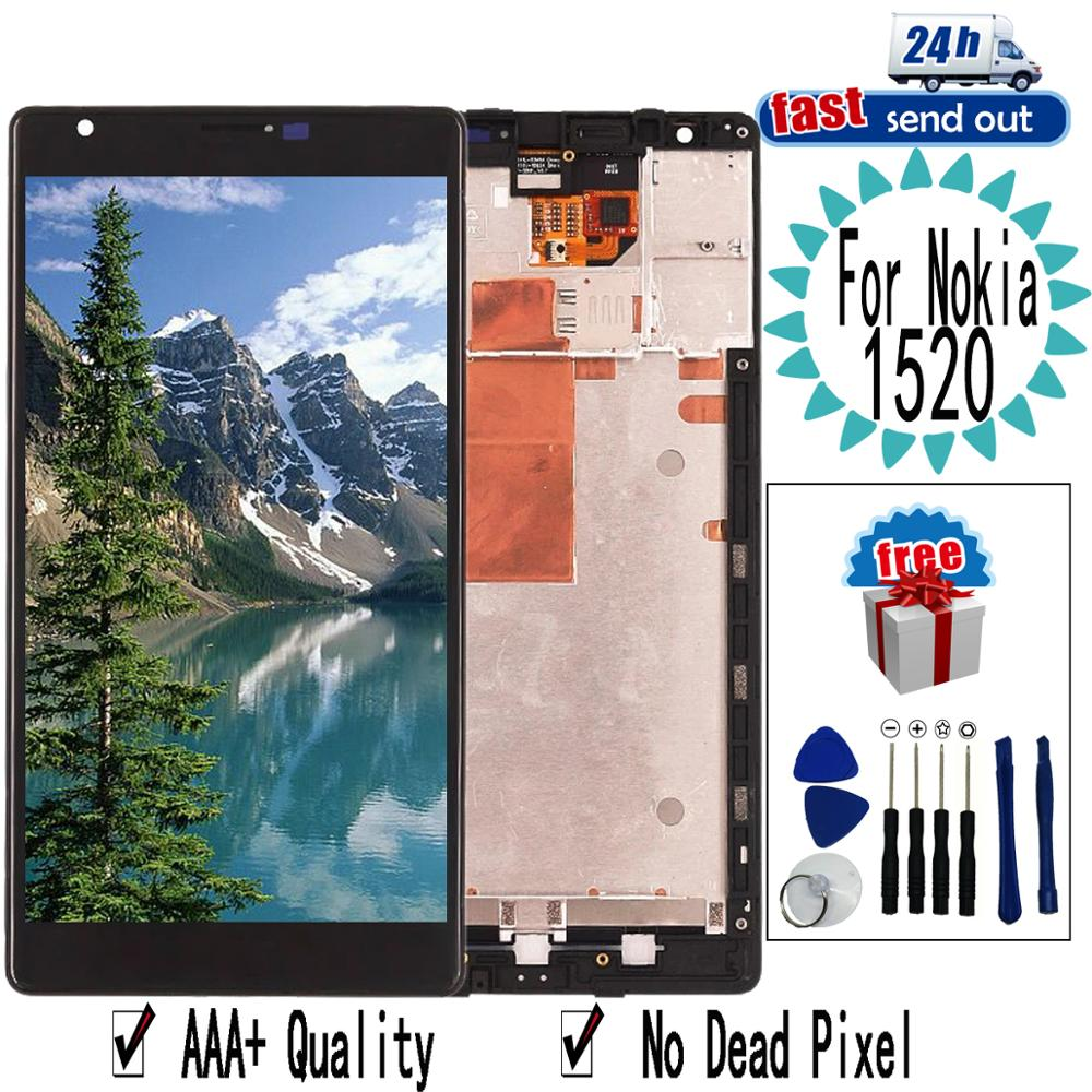 6.0'' 1520 LCD For Nokia Lumia 1520 LCD Display Touch Screen Digitizer Assembly Replacement For Nokia1520