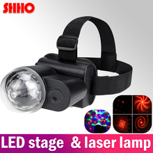 High quality LED light & laser two in one product 4 kinds of the model pattern stage lamp outdoor play dance party