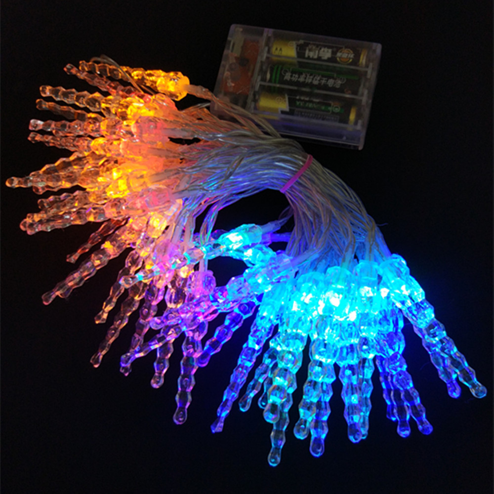 YIYANG 2M/6.5ft 20 LED Fairy Light Battery Icicle LED Christmas String Lights Outdoor Indoor Wedding Home Xmas Party Lights