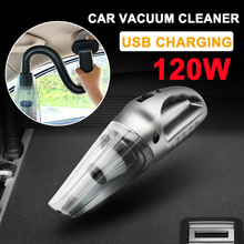 Wireless Car Vacuum Cleaner 120W USB Charging Cable Car Home Dual-Use Cleaner Cordless Handheld Dust Collector Portable Vacuum rechargeable handheld wireless vacuum cleaner for home usb charging sweeping mopping vacuumin three color vacuum cleaner