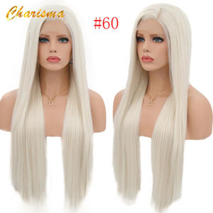 Charisma Wigs Natural-Hairline Lace-Front Straight Synthetic Women Heat-Resistant