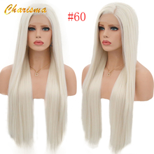 цена на Charisma Silky Straight Hair Synthetic Lace Front Wigs #60 Blonde Wig Heat Resistant Wigs With Natural Hairline Wigs for Women