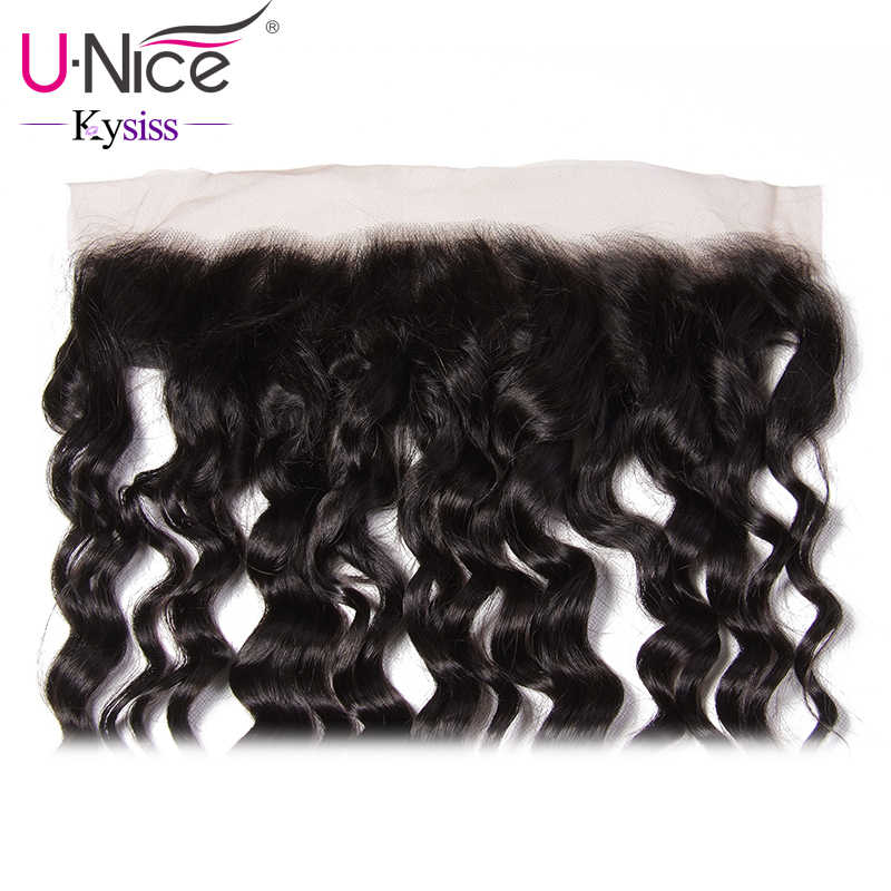 UNice Hair 8A Kysiss Virgin Series Brazilian Natural Wave Lace Frontal Ear to Ear 13X4 Pre Plucked 100% Human Hair Free Part
