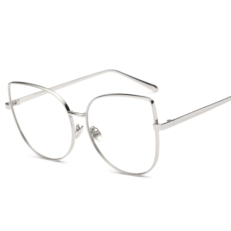 05e2cded016 Kachawoo oversized cat eye glasses female clear lens metal frame black  silver gold big size sexy eyeglasses women accessories-in Eyewear Frames  from Apparel ...