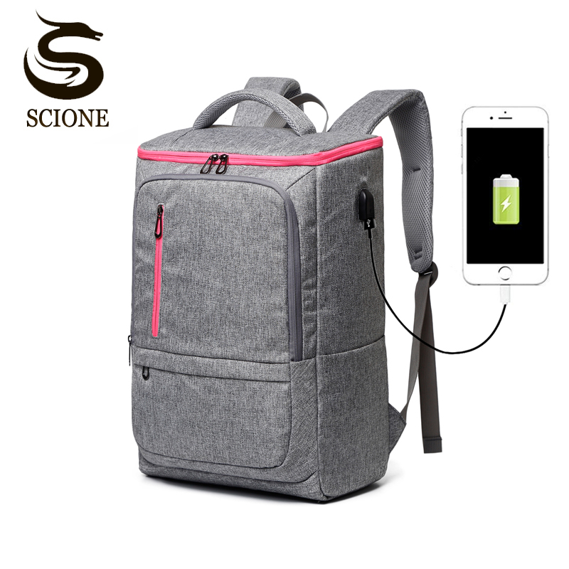 Symbol Of The Brand High-capacity Laptop Bag Shoulders Backpack Usb Charge Canvas Outdoor Basketball Sport Waterproof Notebook Travel Bag Backpack Laptop Accessories To Enjoy High Reputation In The International Market