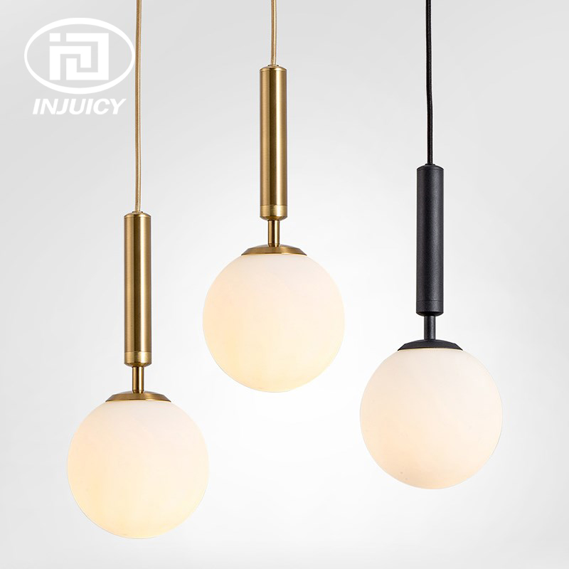 Nordic Postmodern Restaurant Chandelier Bedroom Glass Ball led Simple Creative Single Head Bed Pendent LampNordic Postmodern Restaurant Chandelier Bedroom Glass Ball led Simple Creative Single Head Bed Pendent Lamp