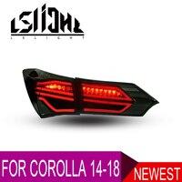 Небольшой светодиодный задний блок освещения для Toyota Corolla 2014 2015 2016 2017 2018 дневные ходовые огни стоп сигнал поворота DRL
