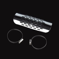 Motorcycle Parts Chrome Exhaust Muffler Pipe Heat Shield Cover Heel Guard For Kawasaki Cruiser KZ EN