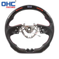 Real Carbon Fiber LED Steering Wheel compatible for Nissan GTR 36