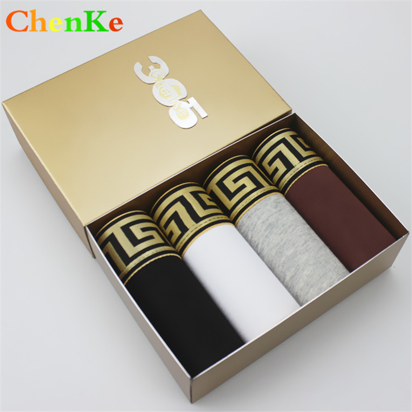 ChenKe365 ChenKe Cotton Boxer Shorts Widening Gold Belt Heathy Underwear Mens