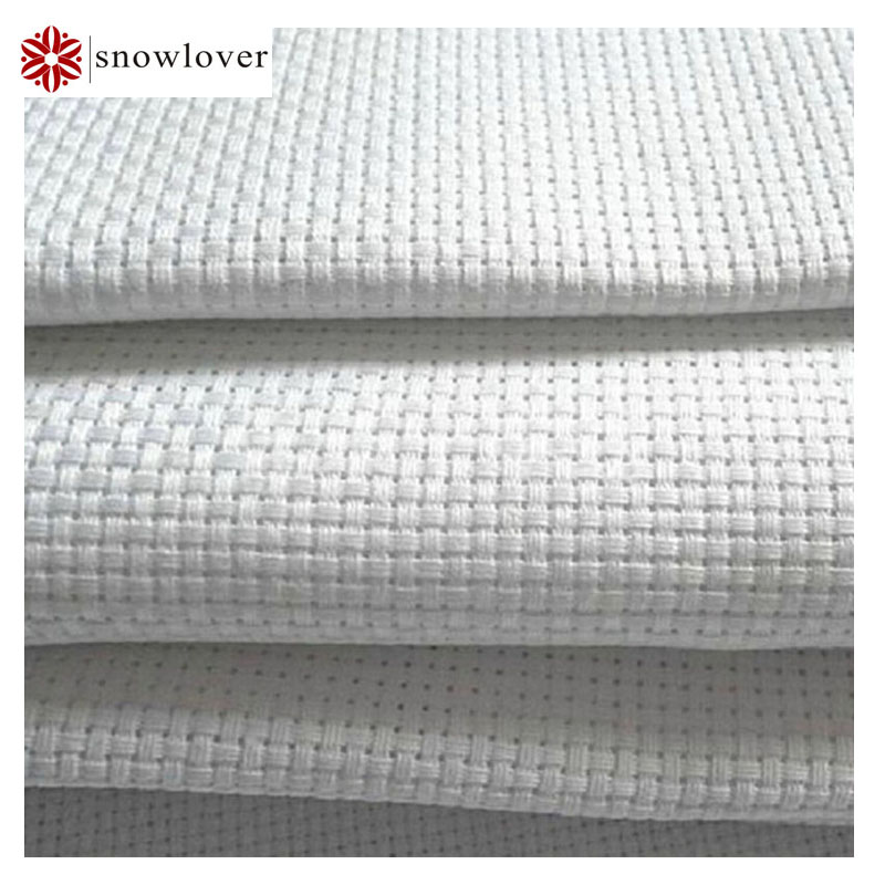 sonwlover flower cross stitching 100cmx150cm 14ST 14CT cross stitch canvas white color any size with lockstitching