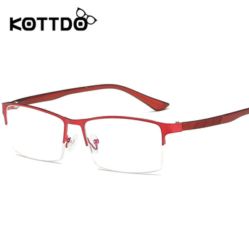 4cf4c2b81a1 US  3.74. KOTTDO 2018 Retro Vintage Women Half Eyeglasses Optical  Prescription Fashion Myopia Glasses Frame for Men s Diopter Eyewear