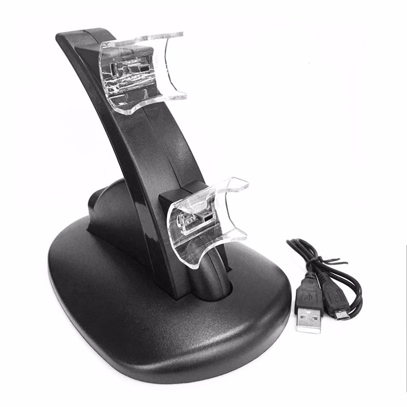 LED Light Quick Dual USB Charging Dock Power Charger Stand Holder For Sony PlayStation 3 For PS3 Controller With USB Cable