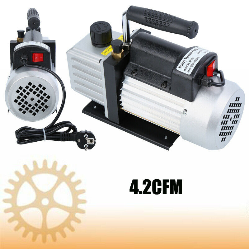 3.5CFM 1/3HP Single Stage Vacuum Pump Air Conditioning Refrigeration Vacuum 5Pa