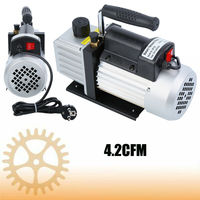 4.2CFM 1/3HP Single Stage Vacuum Pump Air Conditioning Refrigeration Vacuum 5Pa