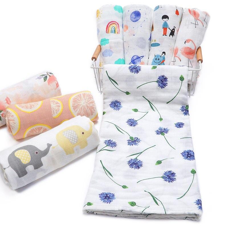 Das Beste Muslinlife 2019 Trending Produkte Kinder Baby Swaddling Decke Infant Bambus Baumwolle Musselin Decke Wrap Neugeborenen Kinderwagen Abdeckung