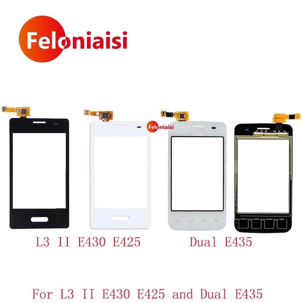 High Quality 3.2 For LG Optimus L3 II E430 E425 and Dual E435 Touch Screen Digitizer Sensor Outer Glass Lens Panel+Tracking