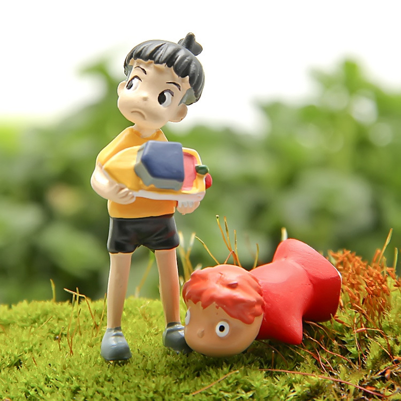 1pcs Ponyo On The DIY Resin Anime Cliff  Action Figure Ornament Figures Collection Model Toys