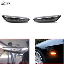 WHDZ 2pcs New LED Side Marker Light Turn Signal Light Fender Lamp for BMW E82 E88 E60 E61 E90 E91 E92 E93 Side Black Amber light 2pcs led side marker light fender turn signal lamp for bmw e81 e82 e87 e88 e90 e91 e92 e60 e61 auto car styling lamp accessories