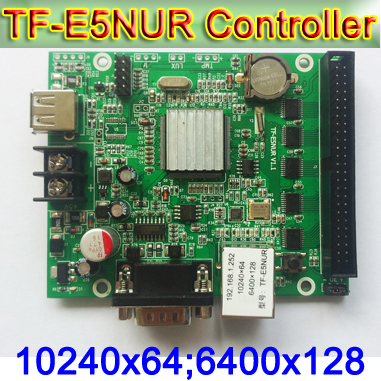 TF-E6NUR (TF-E5NUR) LED Display Module Controller,Support For Text, Clock Display,P10 Single&double Color LED Panel Control Card