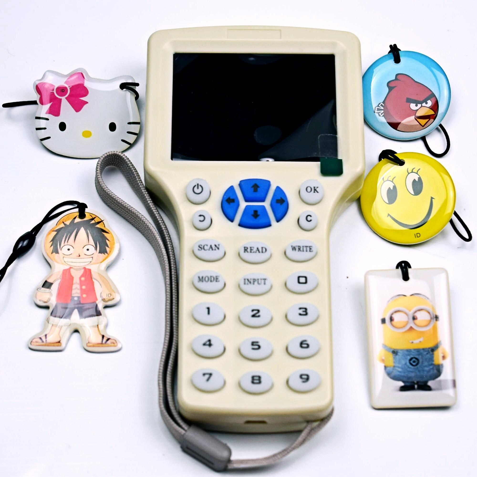 Anglais Version Lecteur Écrivain RFID NFC Crypté Copier Cloner Duplicateur Soutien 10 Fréquence + 5 pcs 125 khz T5577 Réinscriptible clé