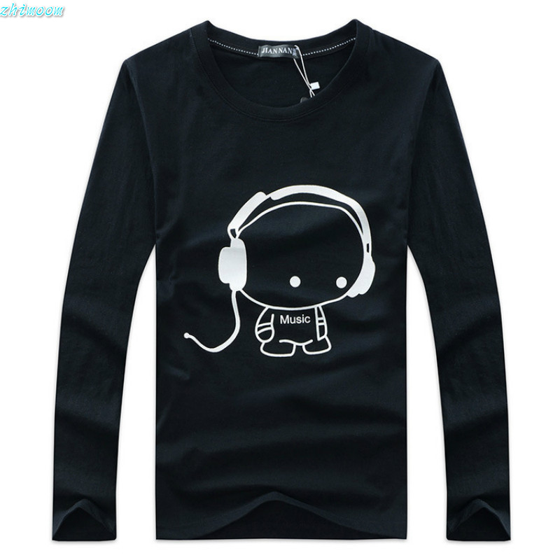 Boys T-shirt Long Sleeve Spring Autumn Cotton White T-shirts Men T Shirts 2017 Big Boy Kids Tee Tops 12 13 14 18 years boys