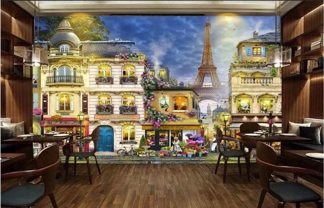 Custom photo 3d room wallpaper Non woven mural Romantic French