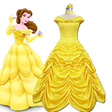 Grimm Fairy Tale Beauty and Beast Animated Version Belle Princess COS Clothing Dress Stage Costume