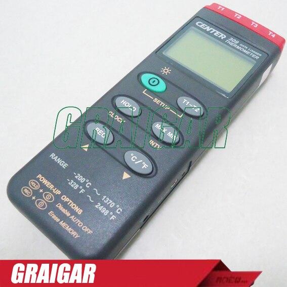 Центр 309 переносной цифровой термометр (k Тип/четыре Каналы/регистратор/pc Интерфейс)