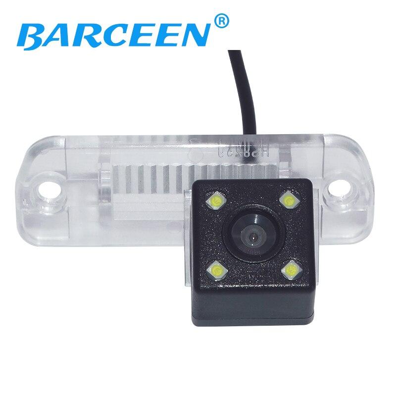 Auto wire car rear reversing camera+4 led lens for Mercedes Benz R Class R350 R500 ML350 W203 W211 W209 B200 A160 W219