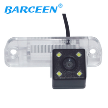 Auto wire car rear reversing font b camera b font 4 led lens for Mercedes Benz