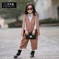 Chaqueta + pantalones de pierna ancha 2 unidades de alta moda primavera otoño niños adolescentes ropa streetwear