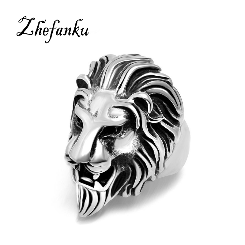 Fashion Trend Of Alloy Jewelry Jewelry Alternative Lion Head Animal Ring Burst Models