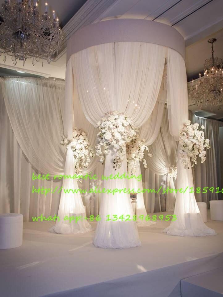 Новый 3 м * 2 м регулируемый круговой трубы рамы для драпировки/нержавеющая свадебной церемонии pivalion/Свадебные украшения фон стенд
