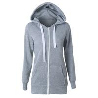 HOT SALE Hoodies Sweatshirt Ladies Women Men Coat Top NEW 2 Colors Unisex Plain Zip Up