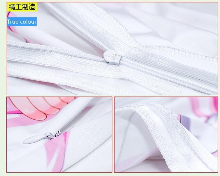 Japan Anime No Game No Life Shiro Dakimakura Hugging Body Pillow Case Cover