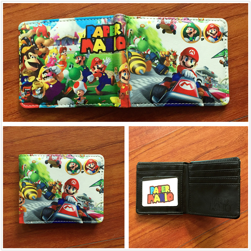 Cartoon Super Mario Wallet Women Men Casual high quality Short Wallet slim purse Card Ho ...