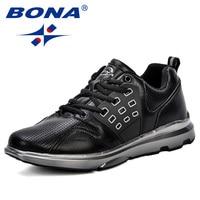 BONA New Classics Style Men Walking Shoes Lace Up Men Athletic Shoes Popular Sneakers Trendy Design Outdoor Jogging Shoes