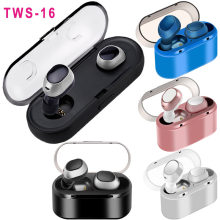 TWS16 Mini Twins True Wireless Stereo Bluetooth Earphones with charge Box CSR 4.2 Handsfree headset Dual bluetooth Earbuds PK M9(China)