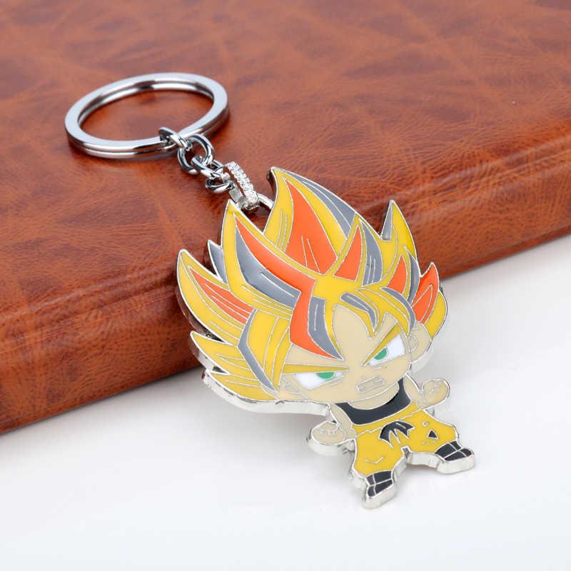 Dongsheng аниме Жемчуг дракона брелок металлический Сон Гоку Супер Saiyan Enmal фигурный брелок Мода брелок-50
