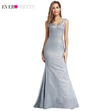 Ever Pretty Sparkle Prom Dresses Long Mermaid V-Neck Sleeveless Sexy Evening Gowns EP07967BL Elegant Formal Gala Jurken